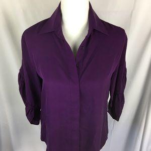 Catherine Malandrino silk purple blouse size 0